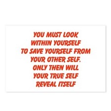 your true self Postcards (Package of 8)