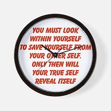 your true self Wall Clock