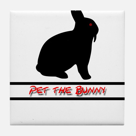 Pet the Bunny Tile Coaster