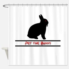 Pet the Bunny Shower Curtain