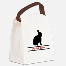 Pet the Bunny Canvas Lunch Bag