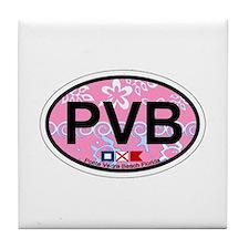 Ponte Vedra - Oval Design. Tile Coaster