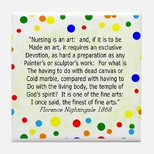 Nursing student FN polka pillow Tile Coaster