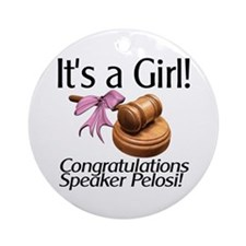 It's A Girl Speaker  Ornament (Round)