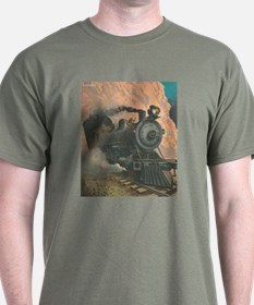 Antique Train Victorian Steam Engine Vintage T-Shirt