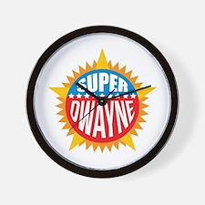 Super Dwayne Wall Clock