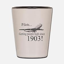 Jet Getting high since 1903 Shot Glass