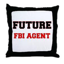 Future Fbi Agent Throw Pillow