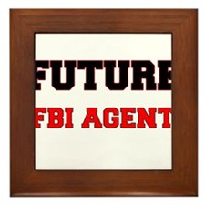 Future Fbi Agent Framed Tile