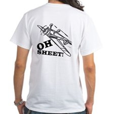 OhSheet T-Shirt with design printed on the back