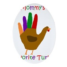 Mommy's Turkey Oval Ornament