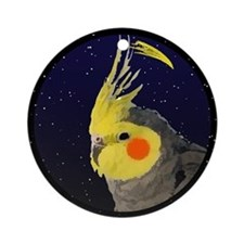 Christmas Night Grey Cockatiel Christmas Ornament