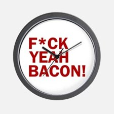 F*CK YEAH, BACON! Wall Clock