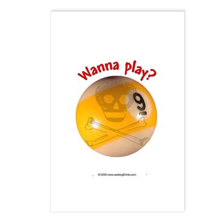 Wanna Play 9-ball Postcards (Package of 8)