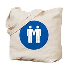 Man on Man Love in Blue Tote Bag