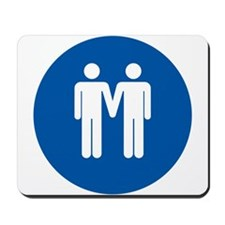 Man on Man Love in Blue Mousepad