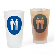 Man on Man Love in Blue Drinking Glass