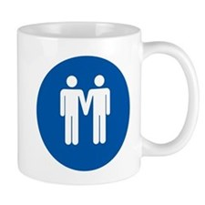 Man on Man Love in Blue Mug