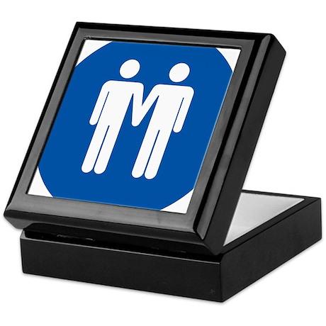 Man on Man Love in Blue Keepsake Box