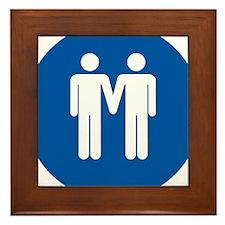 Man on Man Love in Blue Framed Tile