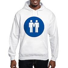 Man on Man Love in Blue Hoodie