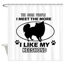 Keeshond lover designs Shower Curtain