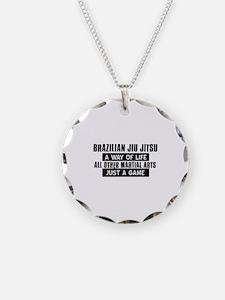 Brazilian Jiu Jitsu Lovers Designs Necklace