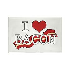 I Heart Bacon Rectangle Magnet