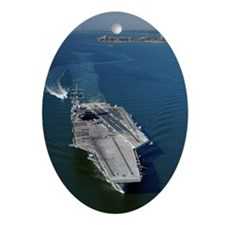 USS Eisenhower CVN 69 Oval Ornament