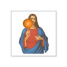 Jesus Christ Basketball Star Sticker