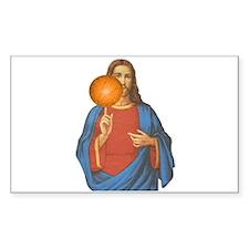 Jesus Christ Basketball Star Decal