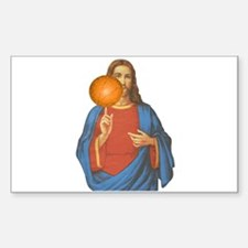 Jesus Christ Basketball Star Decal