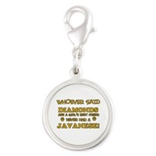 Javanese Mommy designs Silver Round Charm