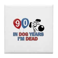 Funny 90 year old designs Tile Coaster