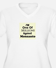 Im One of Millions Against Monsanto Plus Size T-Sh