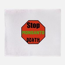 Stop Monsanto Death Throw Blanket