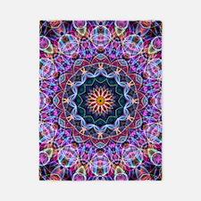 Purple Lotus Kaleidoscope Twin Duvet