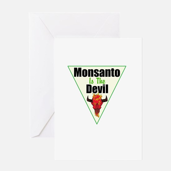 Monsanto is the Devil Greeting Card