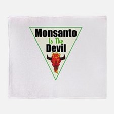 Monsanto is the Devil Throw Blanket