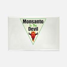 Monsanto is the Devil Rectangle Magnet