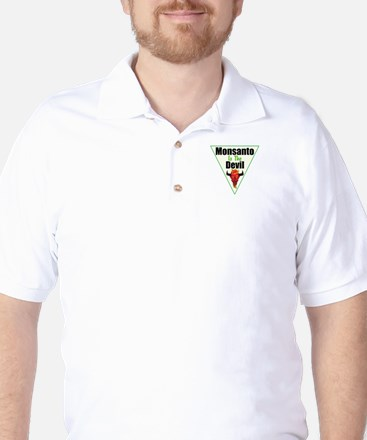 Monsanto is the Devil Golf Shirt