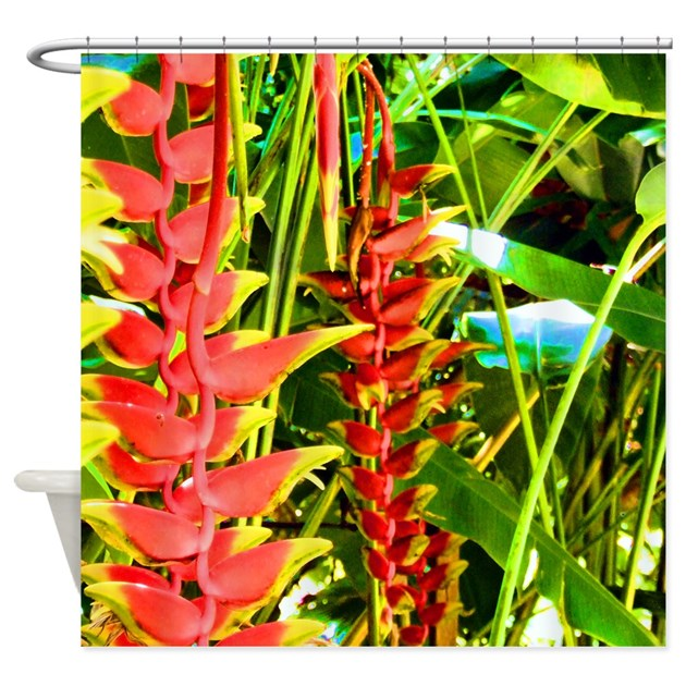 Tropical Shower Curtain By Alloverme