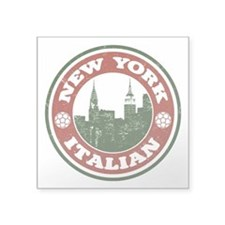 New York Italian American Sticker