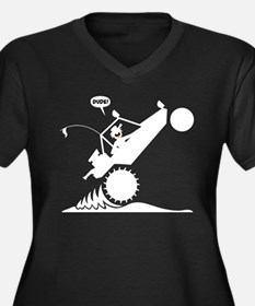 SAND RAIL Wheelie White Image Plus Size T-Shirt