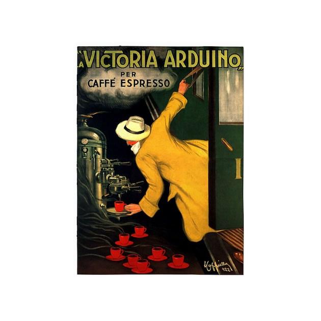 Victoria arduino caffe espresso vintage poster by