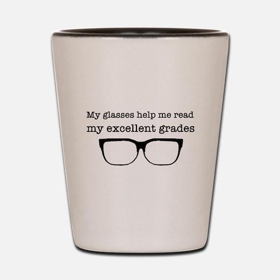 Good grades Shot Glass