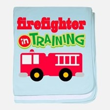 Firefighter in Training baby blanket