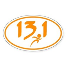 Orange 13.1 half-marathon Bumper Stickers