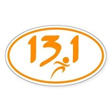Orange 13.1 half-marathon Decal