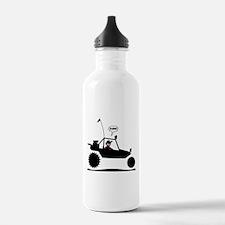 Stickman Sand Rail Black Image Water Bottle
